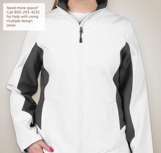 Port Authority Ladies Colorblock Soft Shell Jacket - White