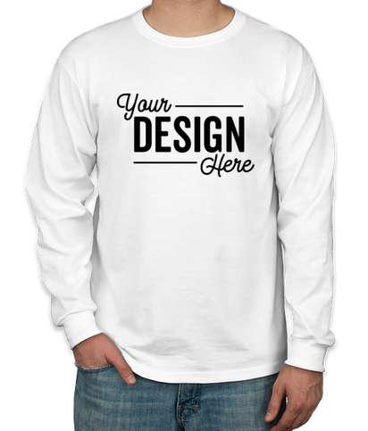 Canada - Jerzees 50/50 Long Sleeve T-shirt - White