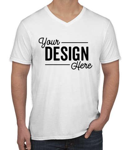 Canada - Gildan Softstyle Jersey V-Neck T-shirt - White