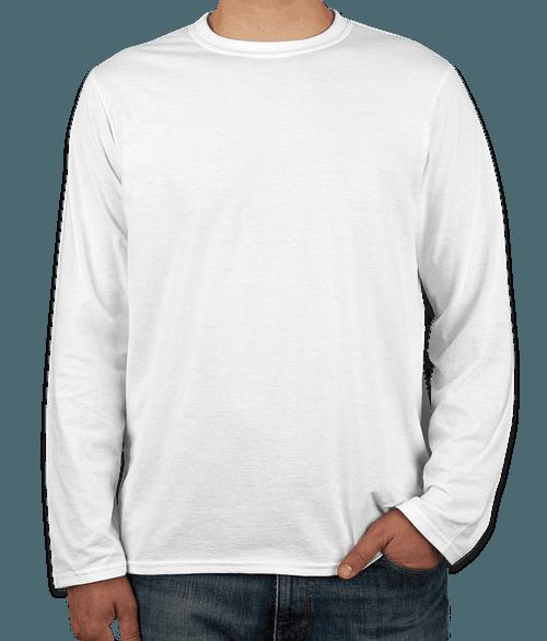 Canada - Gildan Softstyle Long Sleeve Jersey T-shirt - White