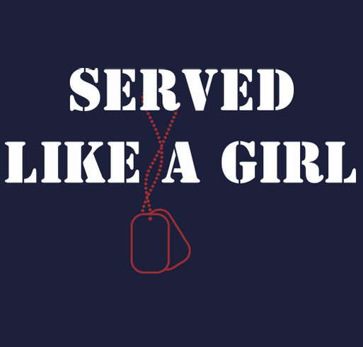 Served Like A Girl shirt design - zoomed