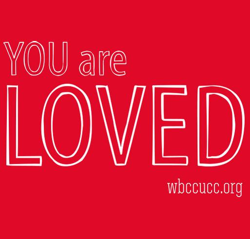 You Are Loved- West Bloomfield Congregational Church shirt design - zoomed
