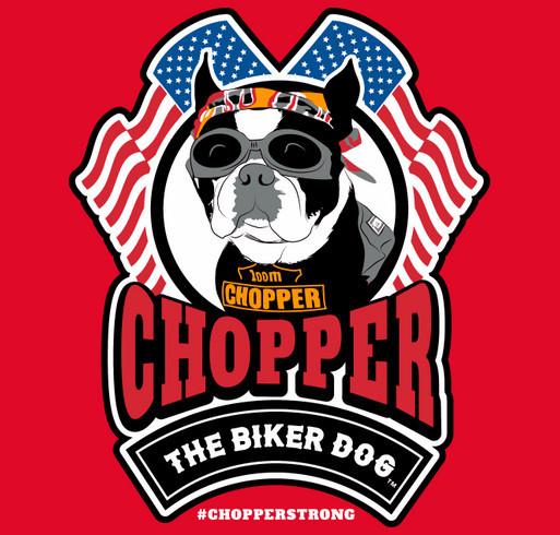 "The ""Chopper the Biker Dog T-Shirt"": Back by popular demand! shirt design - zoomed"