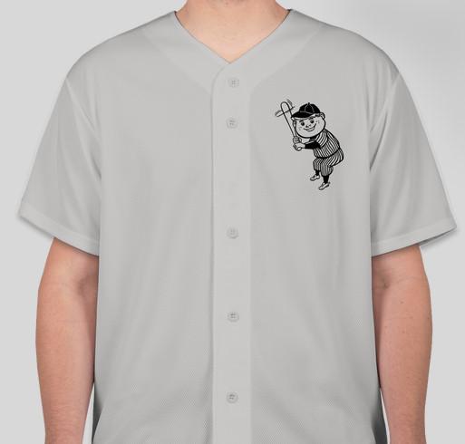 208ca195 LIMITED EDITION GREY CALIFORNIA REPUBLIC BASEBALL JERSEY Fundraiser -  unisex shirt design - front