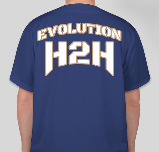 EVOLUTION H2H LLC Fundraiser - unisex shirt design - back