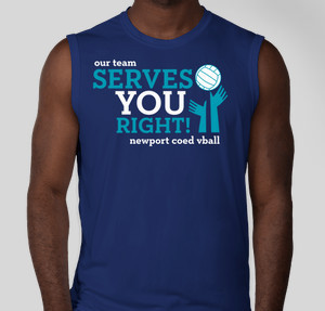 serves you right - Volleyball T Shirt Design Ideas