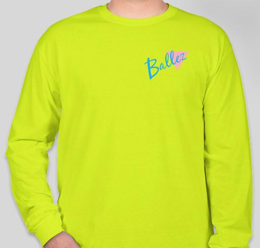 Brand new Ballez Merch Fundraiser - unisex shirt design - front