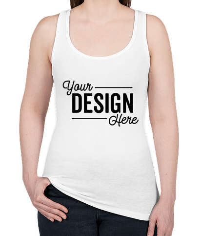 Next Level Women's Slim Fit Jersey Racerback Tank - White