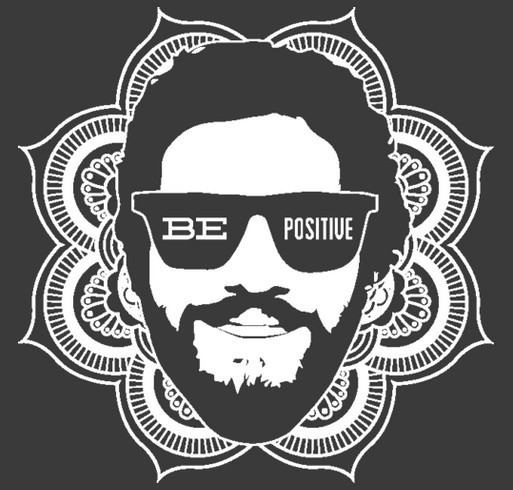 Be Positive! shirt design - zoomed