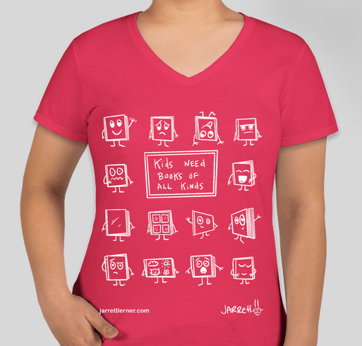 Kids Need Books Fundraiser - unisex shirt design - front