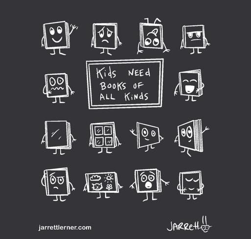 Kids Need Books shirt design - zoomed