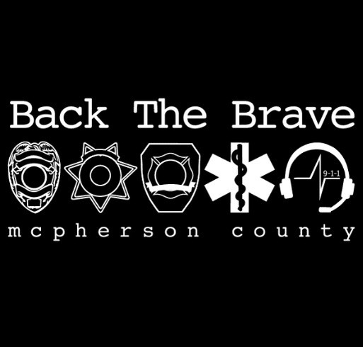 McPherson County Dispatch Fundraiser shirt design - zoomed