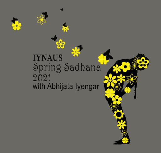 Commemorate IYNAUS Spring Sadhana with Abhijata Iyengar shirt design - zoomed