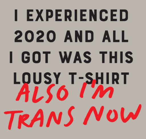 I Experienced 2020 And All I Got Was This Lousy T-shirt (Also I'm Trans Now) shirt design - zoomed