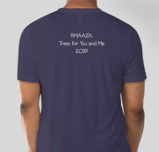 Rocky Mountain AAZK Trees for You and Me Fundraiser - unisex shirt design - back
