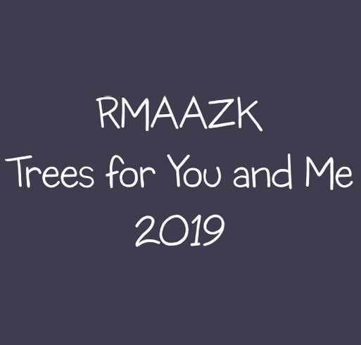 Rocky Mountain AAZK Trees for You and Me shirt design - zoomed