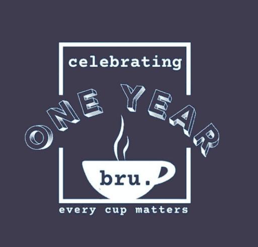 Bru is turning 1! shirt design - zoomed