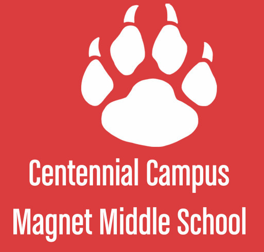 Welcome to the Pack! CCMMS Spirit Wear shirt design - zoomed
