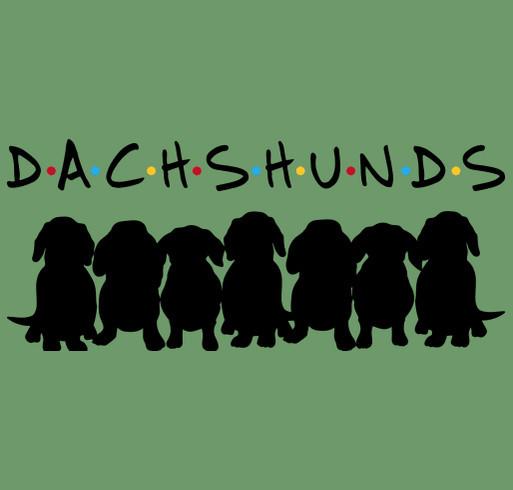 Dachshund Friends! shirt design - zoomed