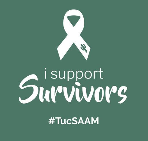 TucSAAM - Greater Tucson Sex Assault Awareness Month shirt design - zoomed