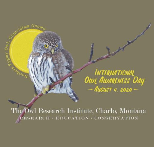 International Owl Awareness Day 2020 shirt design - zoomed