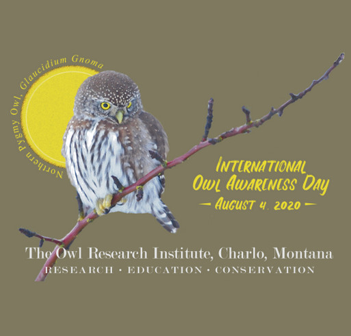 International Owl Awareness Day 2020 shirt design - zoomed
