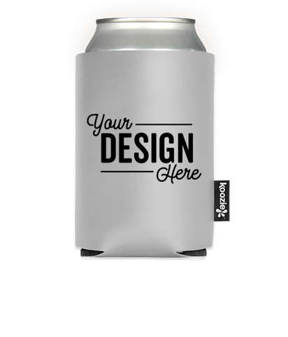 KOOZIE® Deluxe Collapsible Can Kooler - Silver
