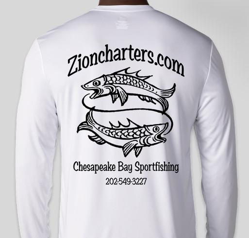 57ce28a6e Zion Charters Cool-Dri Performance Fishing Shirts Fundraiser - unisex shirt  design - back