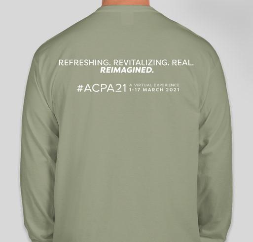 #ACPA21 Long Sleeve T-Shirt Fundraiser - unisex shirt design - back