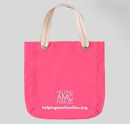 Helping AMC Families - LOGO BAGS! Fundraiser - unisex shirt design - back
