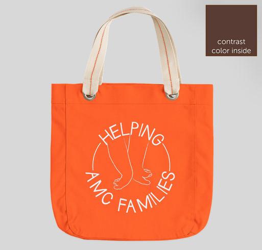 Helping AMC Families - LOGO BAGS! Fundraiser - unisex shirt design - front