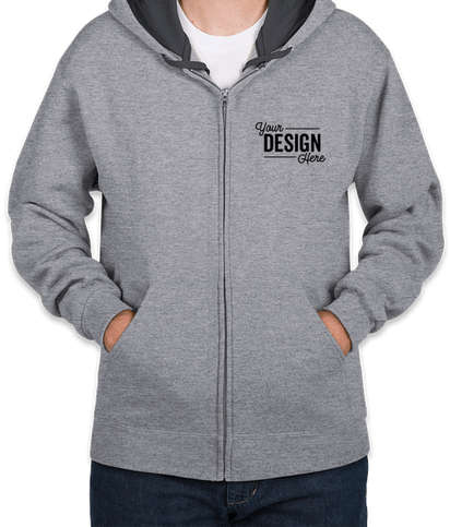 Fruit of the Loom Sofspun Zip Hoodie - Athletic Heather
