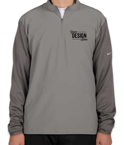 Nike Dri-FIT Lightweight Quarter Zip Pullover - Cool Grey / Dark Grey