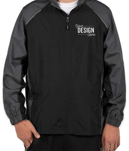 Core 365 Colorblock Lightweight Full Zip Jacket - Black / Carbon