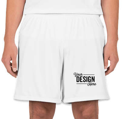 High Five Contrast Performance Shorts - White / White