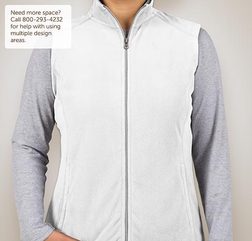 Port Authority Ladies Microfleece Vest - White