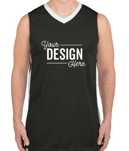 Augusta Colorblock Basketball Jersey - Slate / White