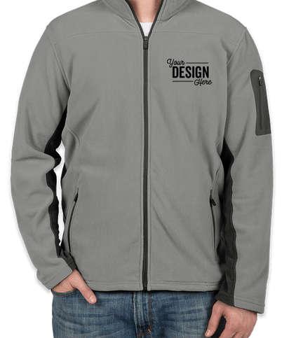 Port Authority Colorblock Full Zip Microfleece Jacket - Frost Grey / Magnet
