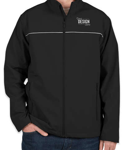 Harriton Reflective Soft Shell Jacket - Black