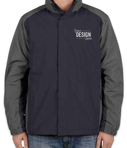 Core 365 Colorblock Fleece Lined All-Season Jacket - Classic Navy / Carbon