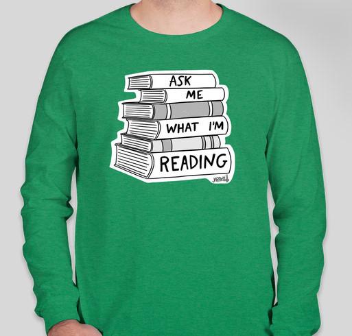 Ask Me What I'm Reading! Fundraiser - unisex shirt design - front