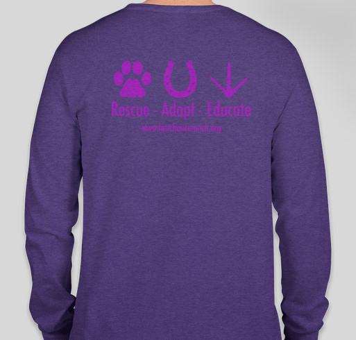 Support Last Chance Ranch! Fundraiser - unisex shirt design - back
