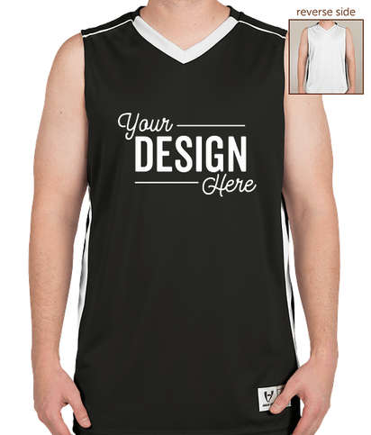 High Five Competition Reversible Basketball Jersey - Black / White