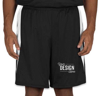 Augusta Top Score Lacrosse Shorts - Black / White