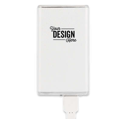 Slim Aluminum Power Bank - Silver