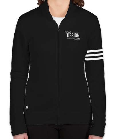 Adidas Women's ClimaLite Full Zip Performance Sweatshirt - Black / White