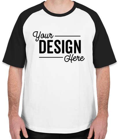 Sport-Tek Short Sleeve Raglan T-shirt - White / Black