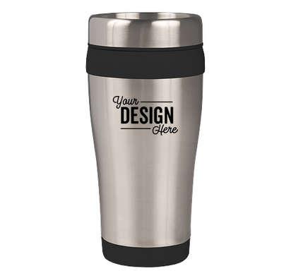 16 oz. Carmel Insulated Steel Travel Mug - Black