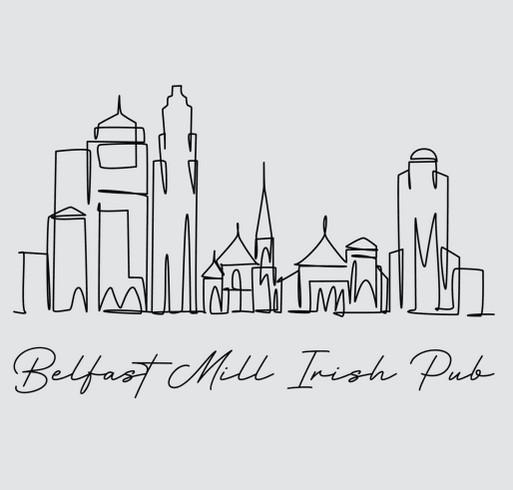 Belfast Mill Bartender Relief Fund shirt design - zoomed