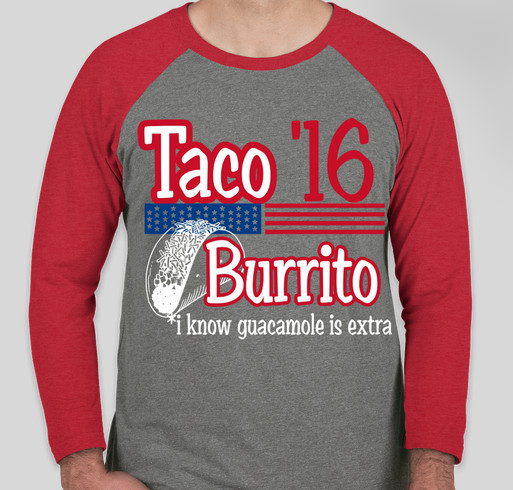 tacos for president! --to bring sparrow home! Fundraiser - unisex shirt design - front